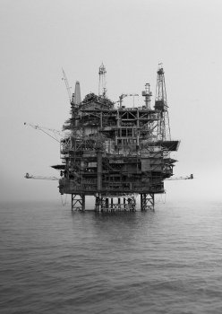 Large collage of oilrigs<br>—<br>Client: Marilou van Lierop